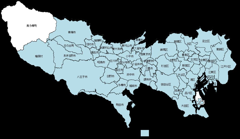 ハザードマップ公表状況の地図