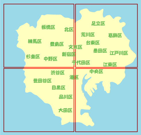 東京 23 区 地図