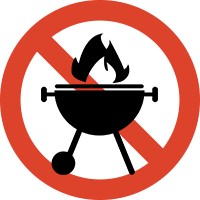Image of No open flame (stoves etc.)